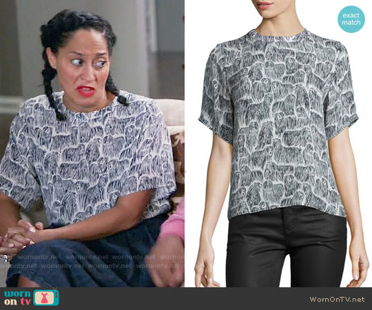 Opening Ceremony Komondor Silk Boxy Top worn by Tracee Ellis Ross on Blackish