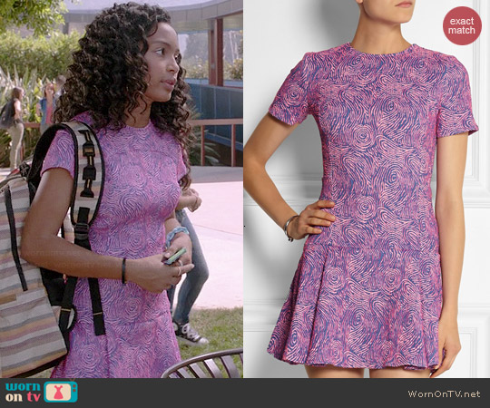 Opening Ceremony Loop Jacquard Knit Mini Dress worn by Yara Shahidi on Black-ish