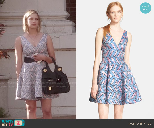 Opening Ceremony Pools Print Fit and Flare Dress worn by Hanna Marin on PLL