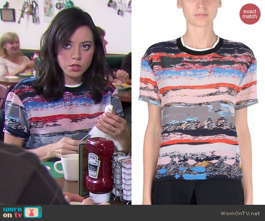 Opening Ceremony Terrazo Top worn by Aubrey Plaza on Parks & Rec