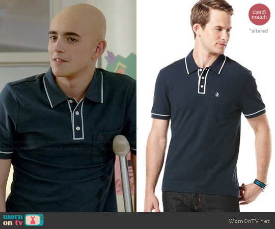 Original Penguin Earl Polo worn by Charlie Rowe on Red Band Society