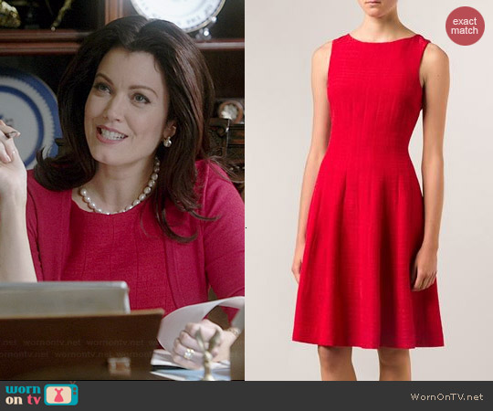 Oscar de la Renta Full Bottom Jacquard Dress worn by Bellamy Young on Scandal