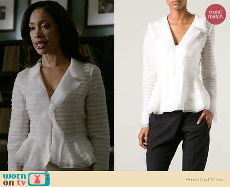 Oscar de la Renta Sheer Layered Jacket worn by Gina Torres on Suits