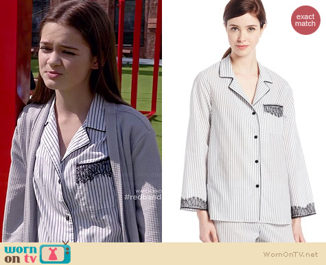 Oscar de la Renta Sophisticated Stripes Pajamas worn by Ciara Bravo on Red Band Society