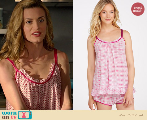 Oscar de la Renta Summer Nights Knit Pajama Set worn by Brooke D'Orsay on Royal Pains