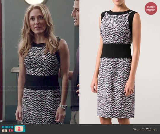 Oscar de la Renta Tweed Print Dress worn by Sasha Alexander on Rizzoli & Isles