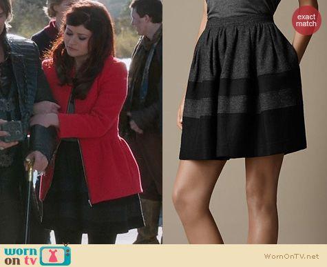 OUAT Fashion: Burberry Felt Colour Block Skirt worn by Emilie De Ravin