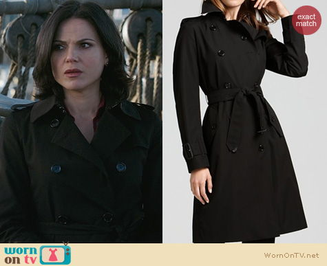 OUAT Fashion: Burberry Manston Trench Coat worn by Lana Parilla