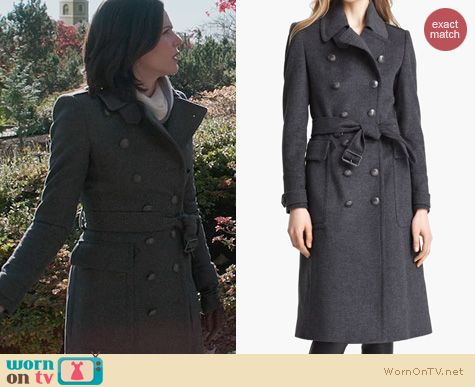 OUAT Fashion: Burberry Sheeran Wool Cashmere Trench Coat worn by Lana Parilla