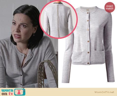 OUAT Fashion: By Malene Birger Lurex Insert Cardigan worn by Lana Parilla
