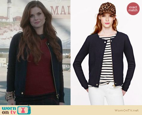 OUAT Fashion: J. Crew Merino Zippered Sweater Jacket worn by Ariel