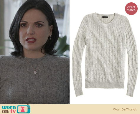 OUAT Fashion: J. Crew Cambridge Cable Crewneck Sweater worn by Lana Parilla