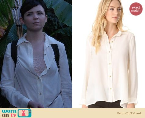 OUAT Fashion: Marc by Marc Jacobs Alex Silk blouse worn by Ginnifer Goodwin