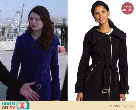 OUAT Fashion: Miss Sixty asymmetric coat worn by Emilie de Ravin
