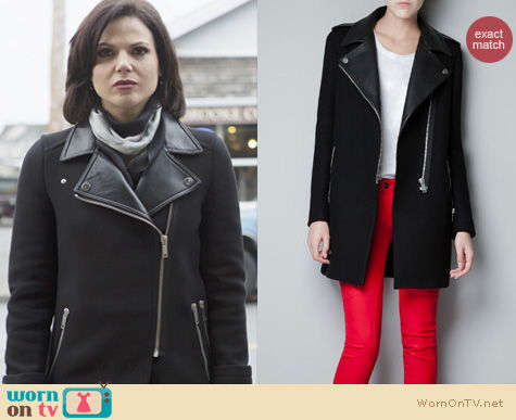 WornOnTV: Regina's black leather collar coat on Once Upon a Time ...