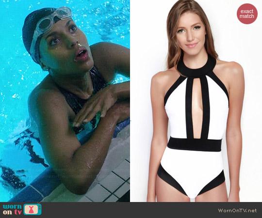 Oye Swimwear Go Lightly Swimsuit worn by Kerry Washington on Scandal