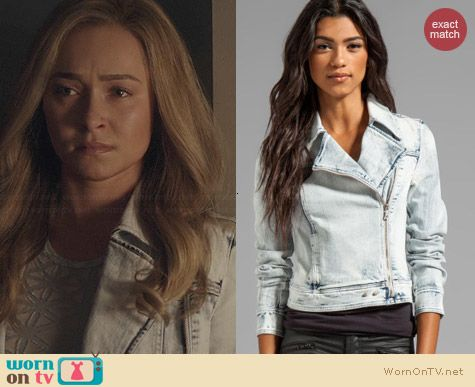 Paige Brooklyn Denim Jacket in Snowfall worn by Hayden Panettiere on Nashville