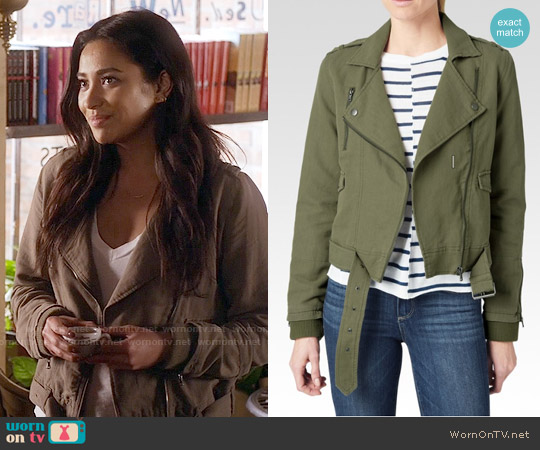 Paige Marjorie Jacket worn by Shay Mitchell on PLL