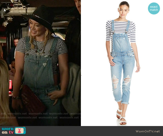 Paige Sierra Overalls in Serena Destructed worn by Hilary Duff on Younger