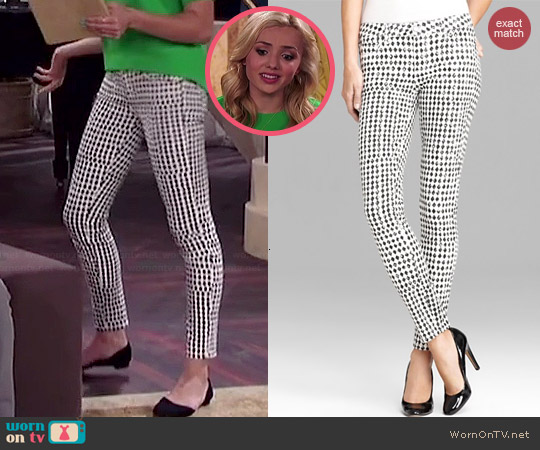 Paige Verdugo Diamond Checkerboard Jeans worn by Peyton List on Jessie