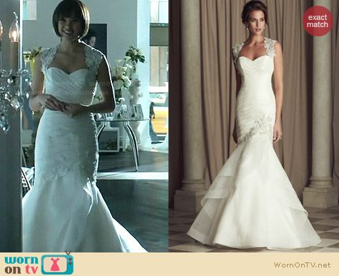 Paloma Blanca Wedding Gown Style #4464 worn by Nicole Gale Anderson on BATB