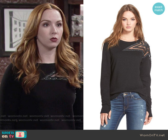 Pam & Gela Embellished Star Sweatshirt worn by Camryn Grimes on The Young & the Restless