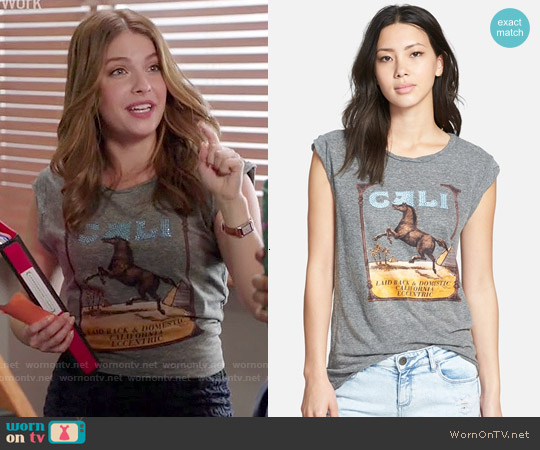 Pam & Gela 'Frankie Cali' Muscle Tee worn by Paige Spara on Kevin from Work