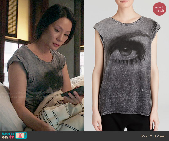 Pam & Gela Frankie Eye Tee worn by Lucy Liu on Elementary