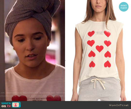 Pam & Gela Frankie Heart Tank worn by Lennon Stella on Nashville