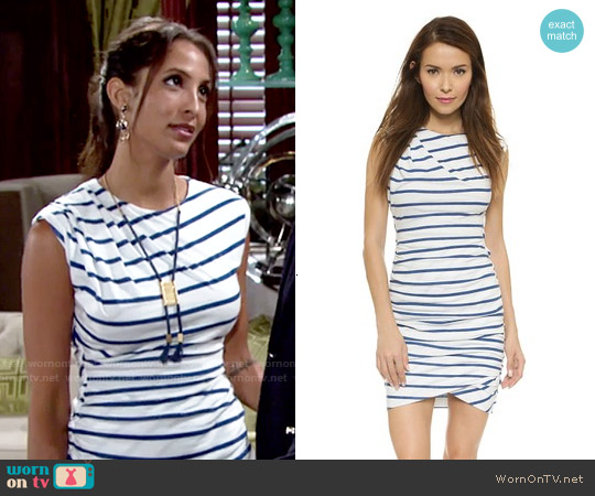 Pam & Gela Twisted Dress worn by Christel Khalil on The Young & the Restless