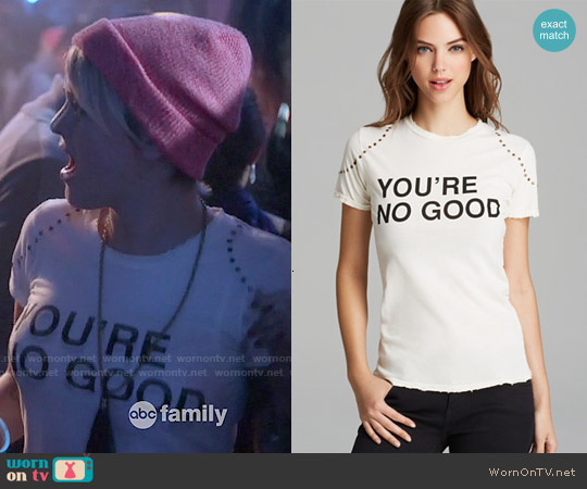 Pam & Gela You're No Good Distressed Logo Tee worn by Jordan Hinson on Kevin from Work