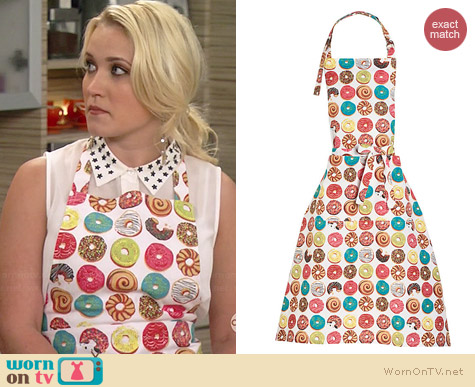 Paper Source Donuts Apron worn by Emily Osment on Young & Hungry