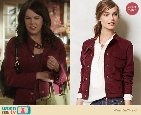 Parenthood Fashion: Anthropologie Selva Moto Jacket worn by Lauren Graham