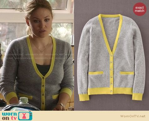 Parenthood Fashion: Boden Cashmere Waffle Cardigan worn by Erika Christensen