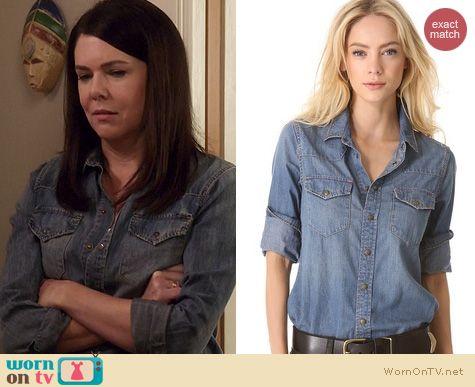 Parenthood Fashion: Current Elliot Western Shirt worn by Lauren Graham