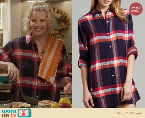 Fashion of Parenthood: DKNY Mad for Plaid Flannel Boyfriend Sleepshirt worn by Monica Potter