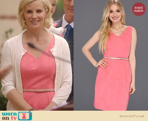Parenthood Fashion: Ellen Tracy Jacquard Fit and Flare dress worn by Monica Potter