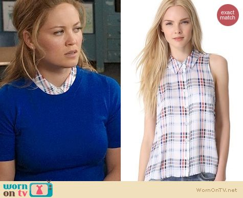 Parenthood Fashion: Equipment Mina Blouse in Bright White Multi worn by Erika Christensen