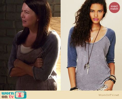 Parenthood Fashion: Free People Cotton Candy Burnout Tee worn by Lauren Graham