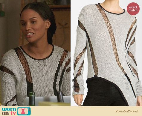 Fashion of Parenthood: Helmut Lang Asymmetrical Sweater worn by Joy Bryant