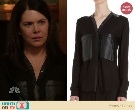 Parenthood Fashion: Helmut Lang Leather Pocket Blouse worn by Lauren Graham