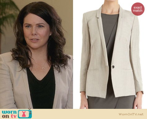 Parenthood Fashion: Helmut Lang Slim Lapel blazer worn by Lauren Graham