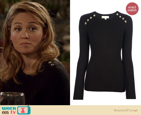 Fashion of Parenthood: Michael Kors Button Detail Sweater worn by Erika Christensen