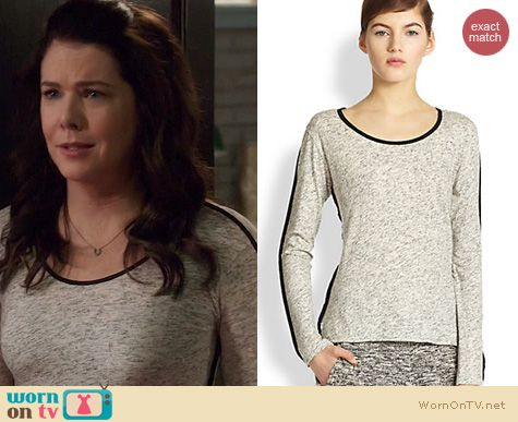 Fashion of Parenthood: Rag & Bone Spine Long Sleeve Tee worn by Lauren Graham