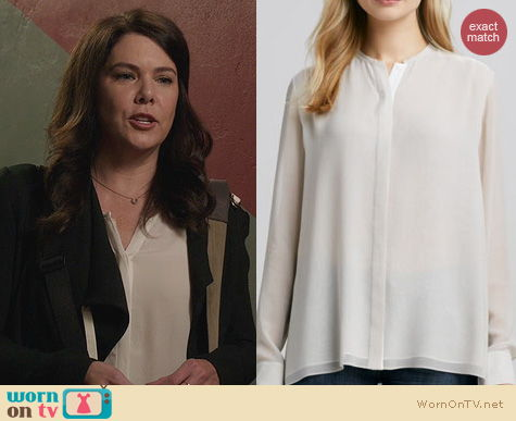 Fashion of Parenthood: Vince Double Layer Silk Blouse worn by Lauren Graham