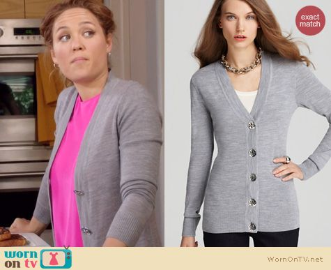 Parenthood Style: Tory Burch Simone Cardigan worn by Erika Christensen