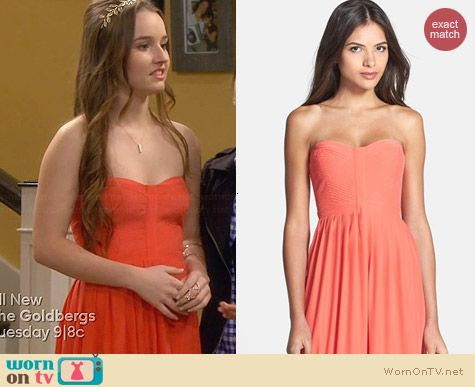 Parker Bayou Dress in Dragonfruit worn by Kaitlyn Dever on Last Man Standing