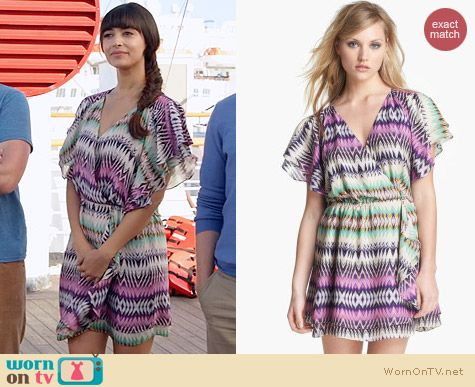 Parker Flora Shockwave Dress worn by Hannah Simone on New Girl