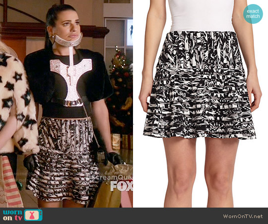 Parker Harmony Printed Skirt in Arcus worn by Lea Michele on Scream Queens