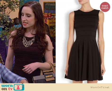 Parker Lacey Dress in Black worn by Zoe Lister Jones on FWBL